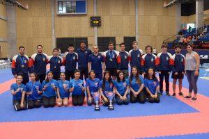 Universidad de Chile se quedó con la copa en Campeonato Nacional de Karate