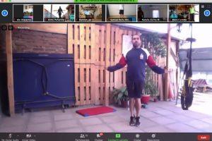 Selección de Natación de la U participa en entrenamiento  interuniversitario virtual