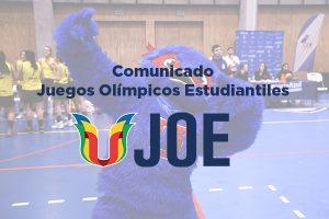 Comunicado oficial: cancelación Juegos Olímpicos Estudiantiles 2021