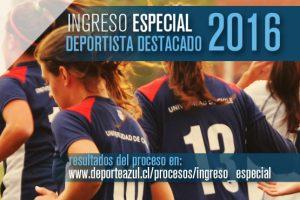 Deportistas destacados convocados a matrícula y lista de espera 2016