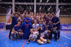La U cerró su participación en Nacional Fenaude de Vóleibol con doble oro