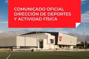 Comunicado Oficial Dirección de Deportes y Actividad Física - 19 de marzo 2021