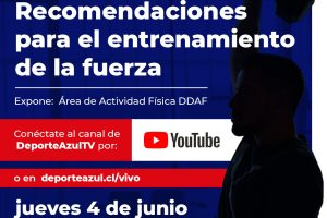 """La DDAF realizará la charla """"Recomendaciones para el entrenamiento de la fuerza"""" para los y las deportistas de la U"""