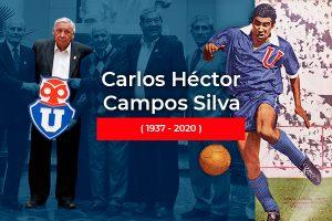 Fallece Carlos Campos, histórico goleador del Club Universidad de Chile y ex funcionario de FCFM